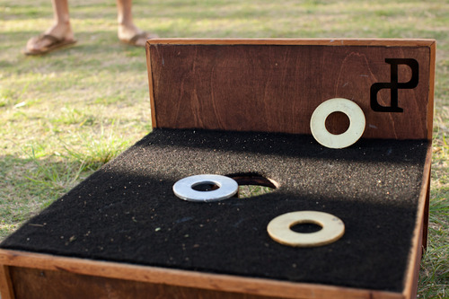 Portuguese Horse Shoes Game for Hawaii Wedding