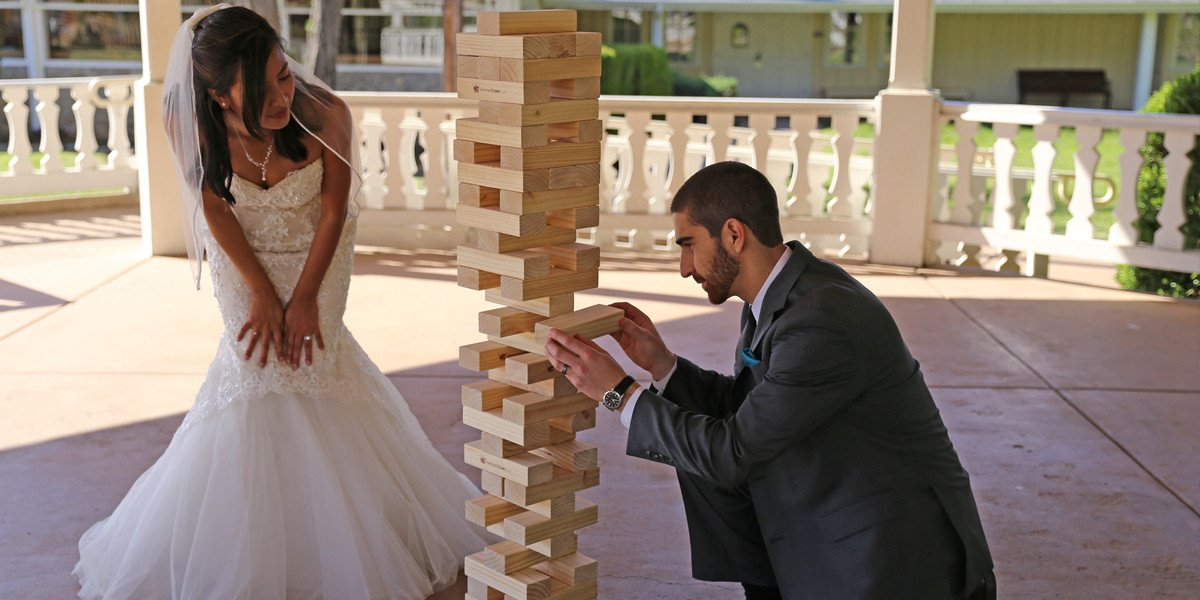Giant Jenga Game for Hawaii Wedding